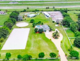 View of the Farm and Stables  In Wellington, Florida
